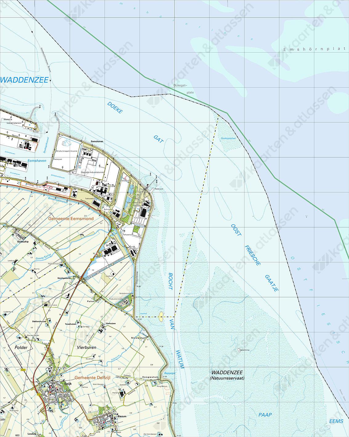 Topografische Kaart 3H Eemshaven
