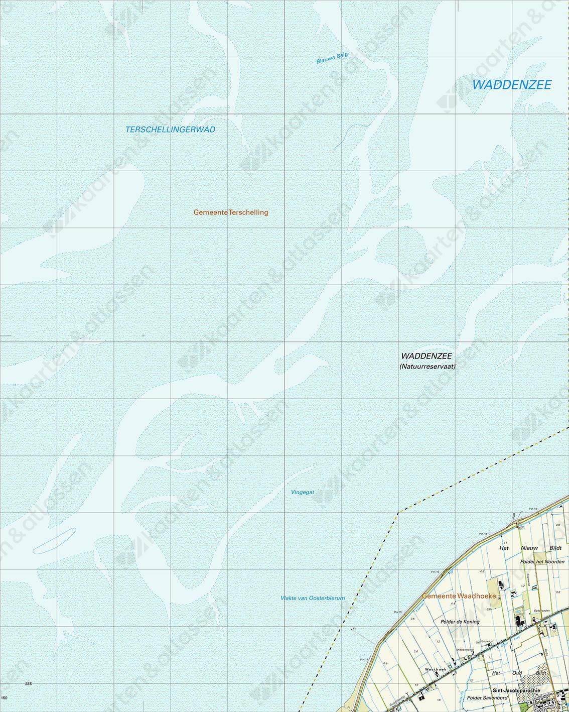 Topografische Kaart 5E Westhoek