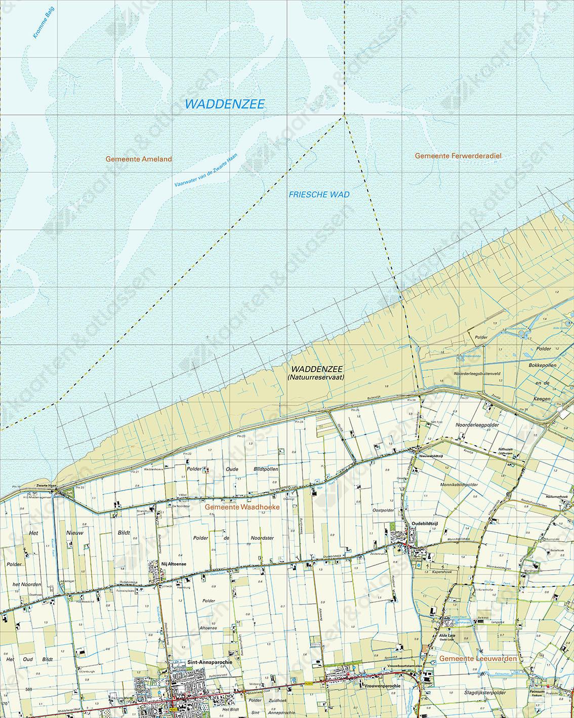 Topografische Kaart 5F Oudebildtzijl