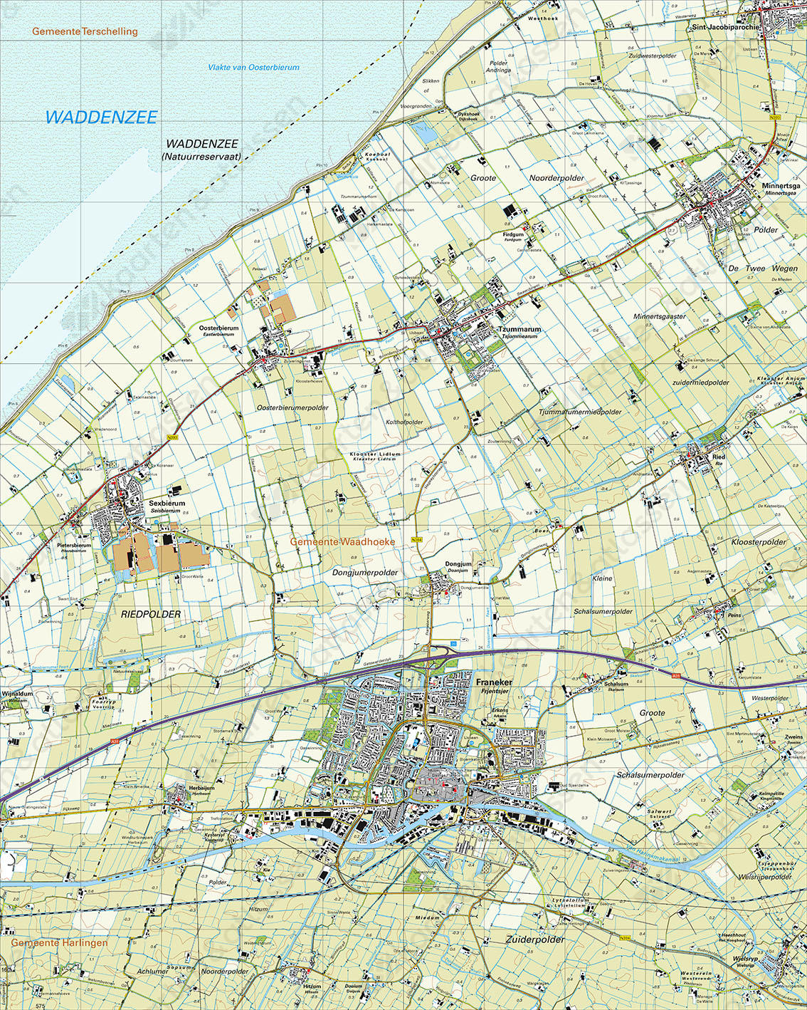 Topografische Kaart 5G Franeker