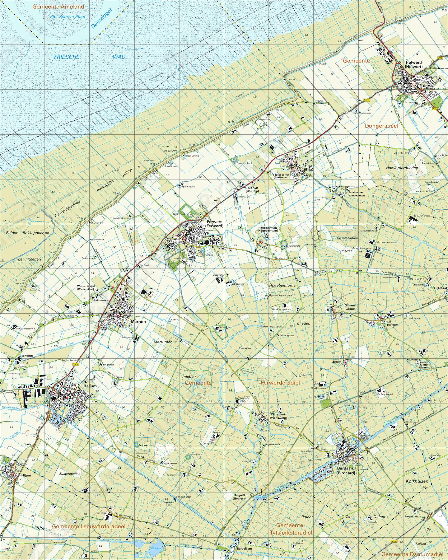 Topografische Kaart 6A Ferwert