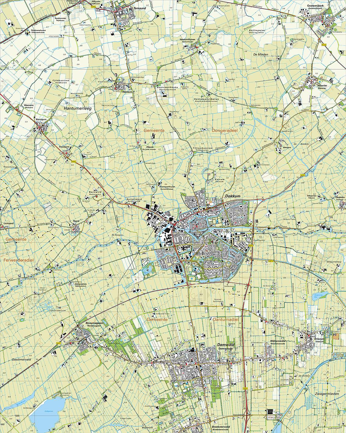 Topografische Kaart 6B Dokkum