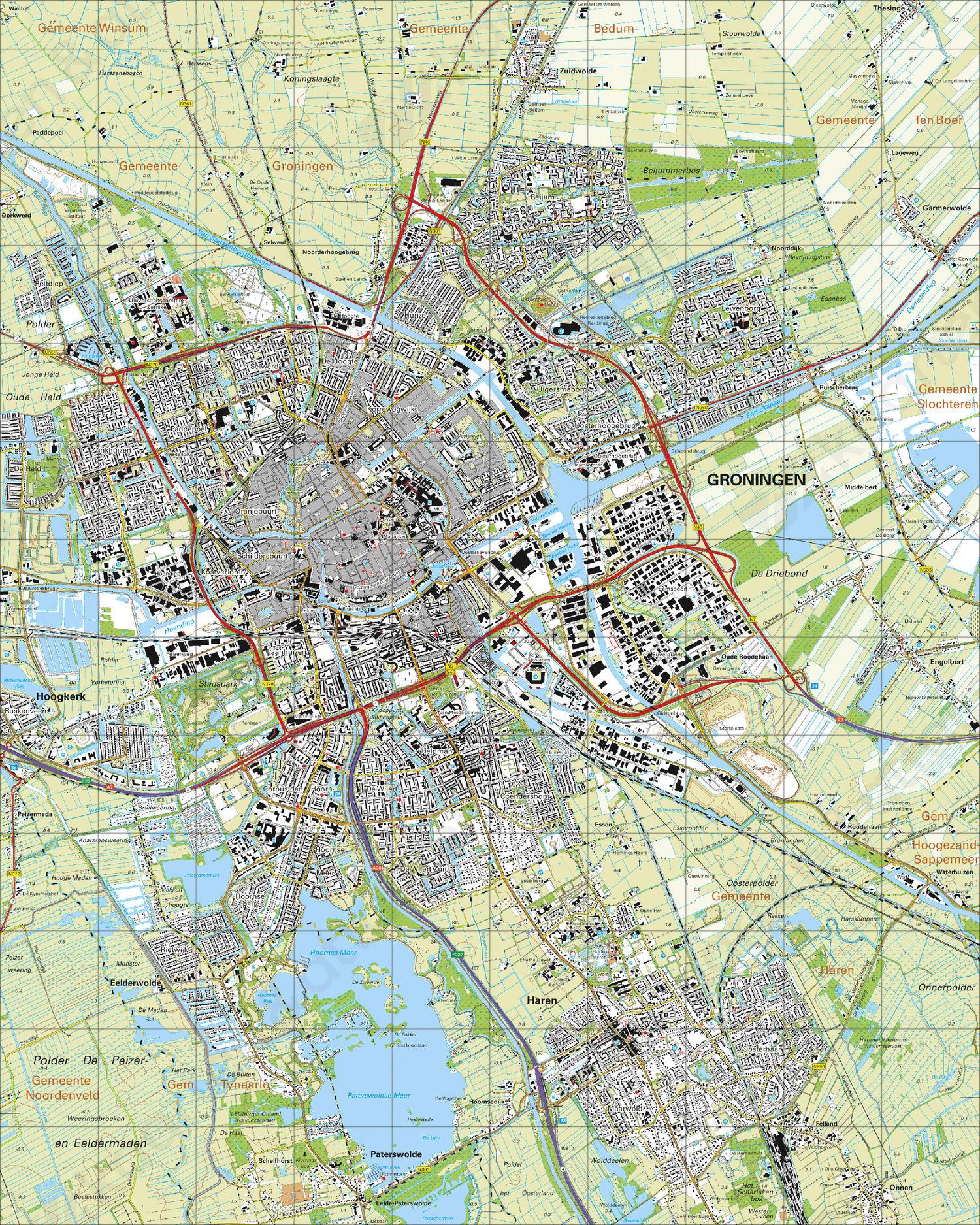 Topografische Kaart 7D Groningen