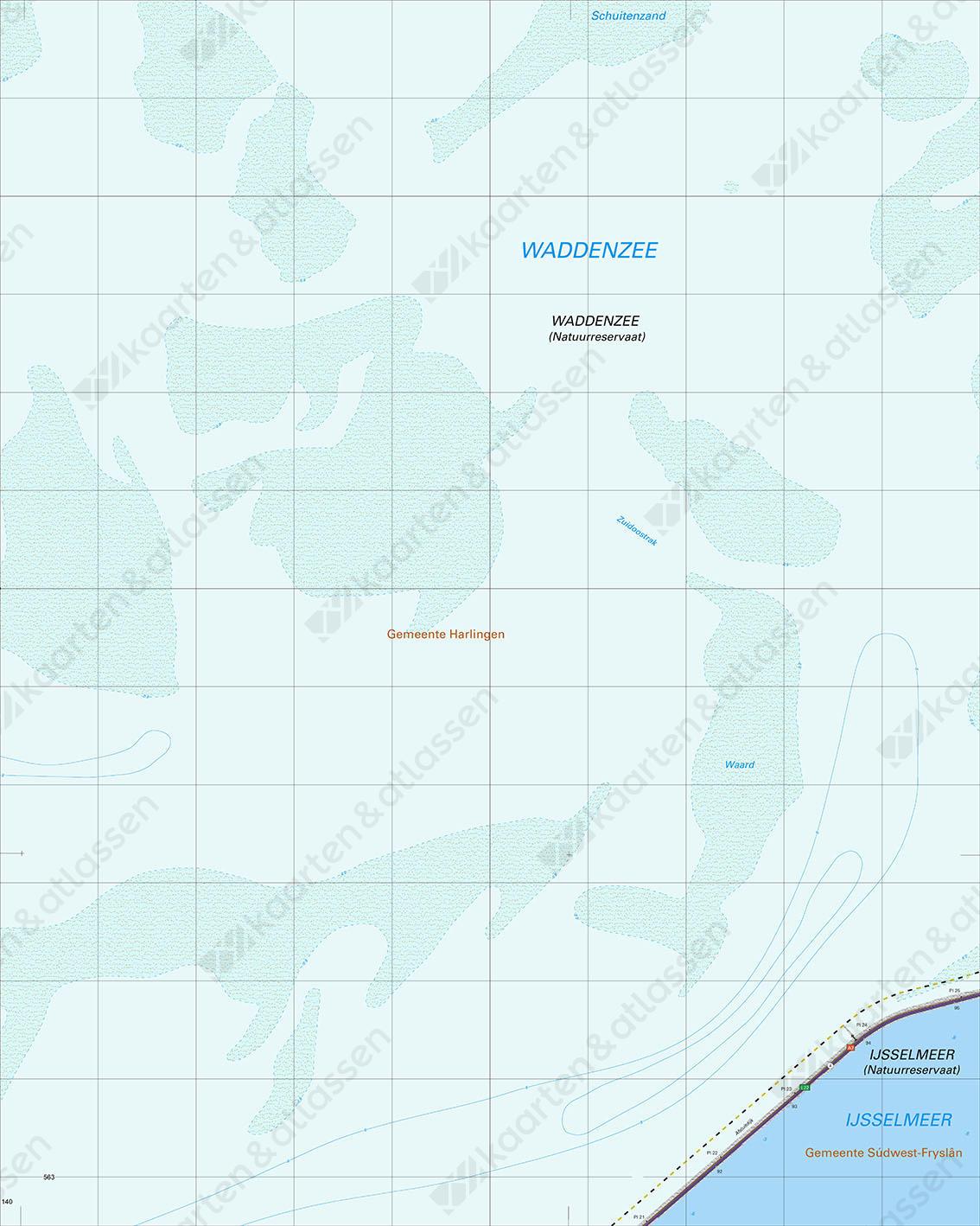 Topografische Kaart 10A Waddenzee