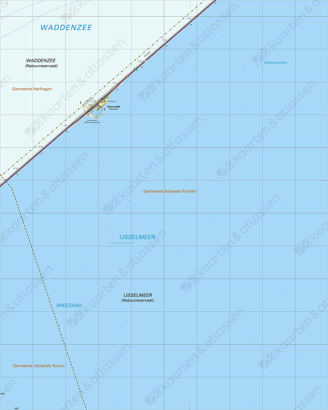 Topografische Kaart 10C Afsluitdijk