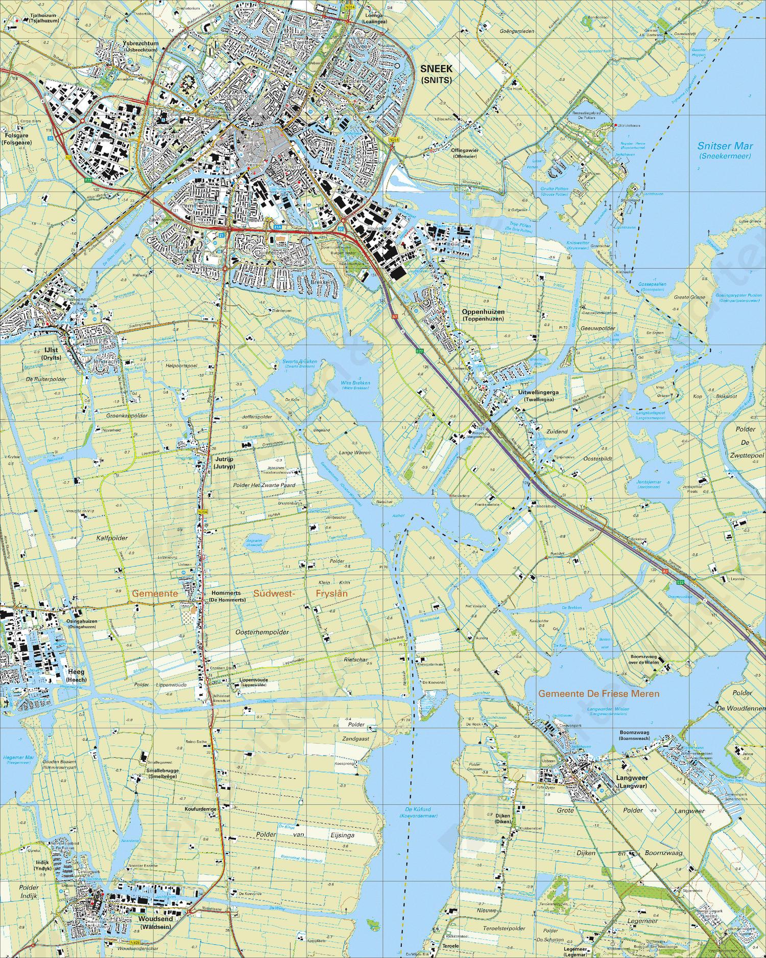 Topografische Kaart 10H Sneek