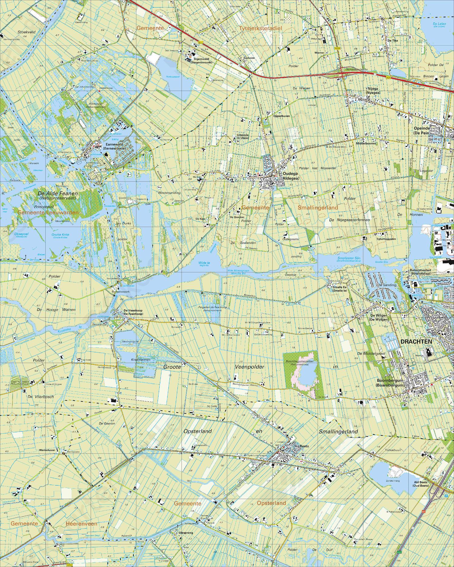 Topografische Kaart 11B Nij Beets