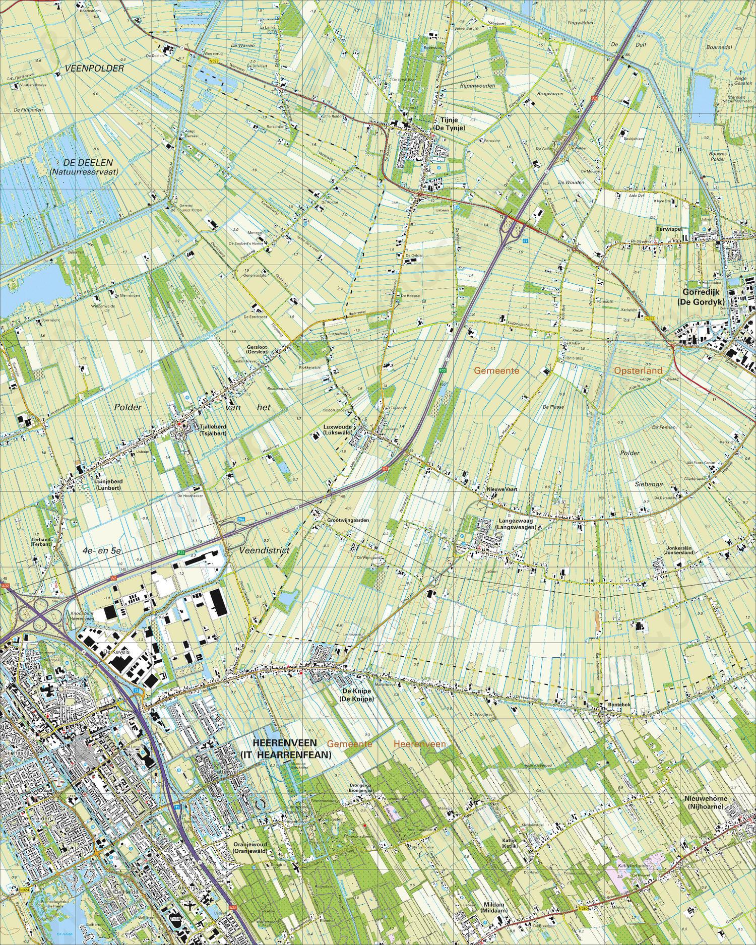 Topografische Kaart 11d Heerenveen Kaarten En Atlassen Nl