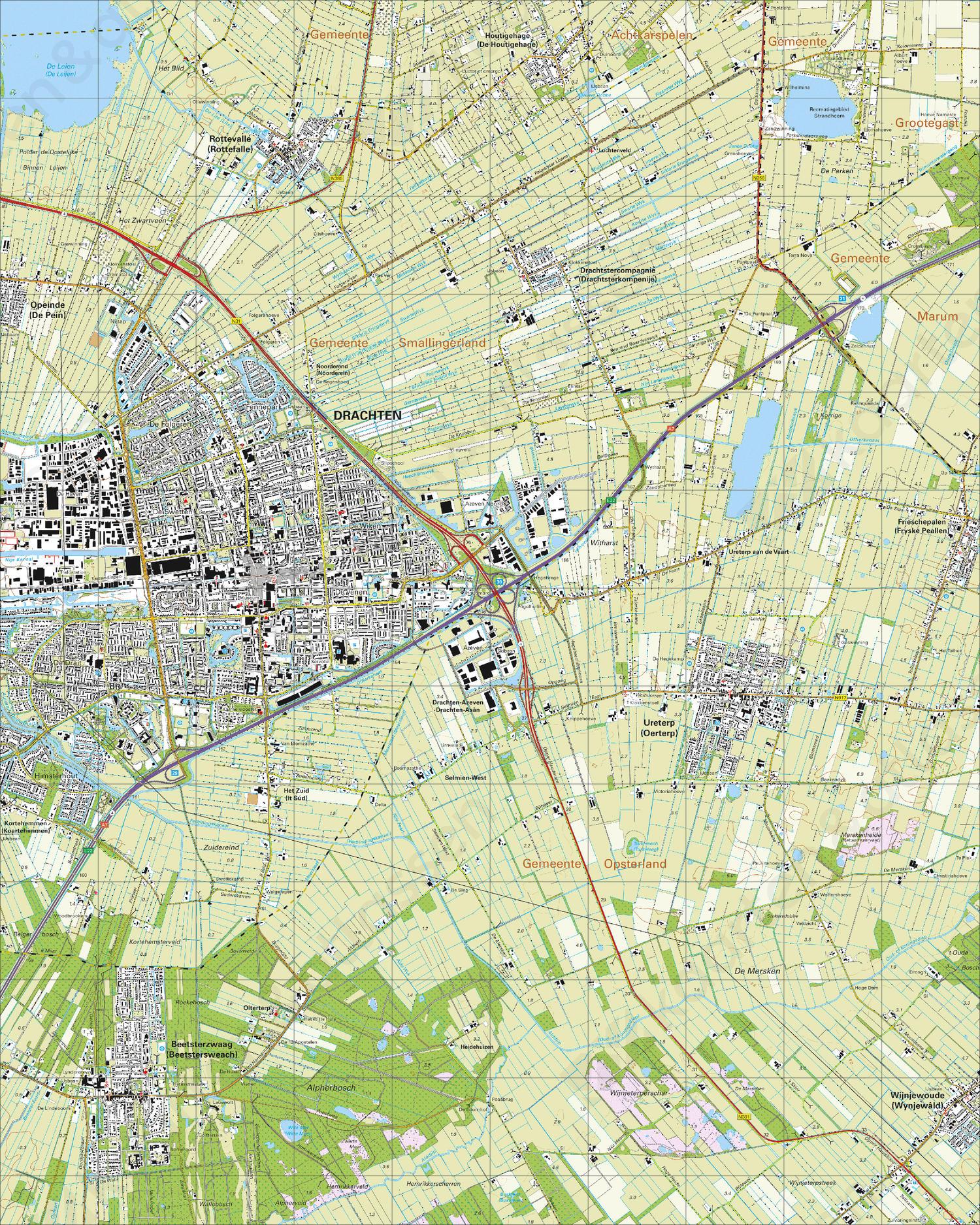 Topografische Kaart 11E Drachten