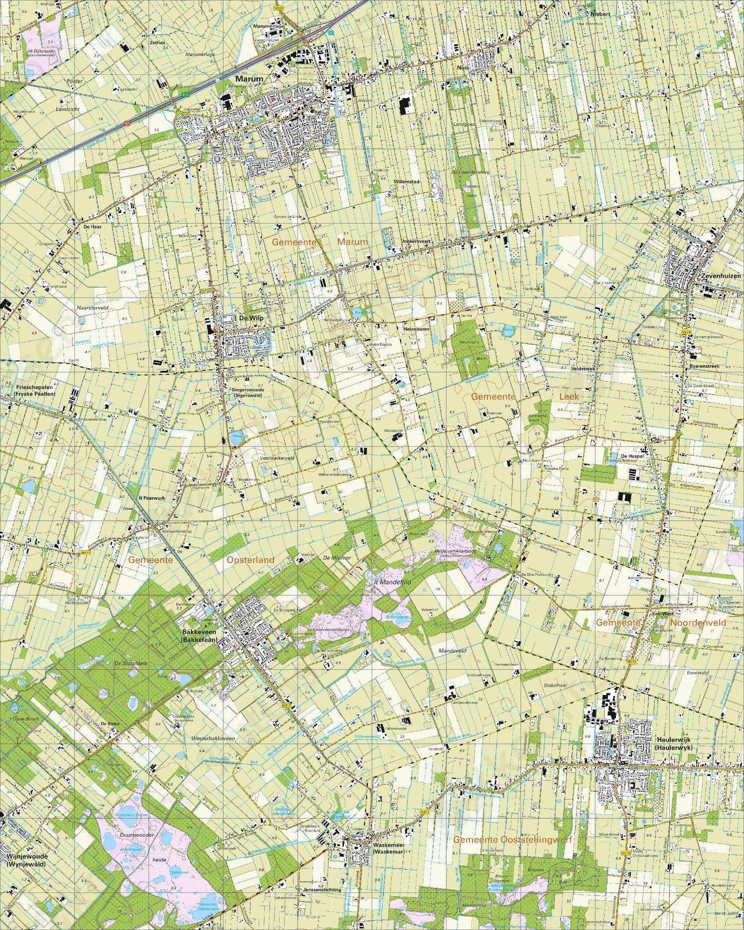 Topografische Kaart 11F Marum