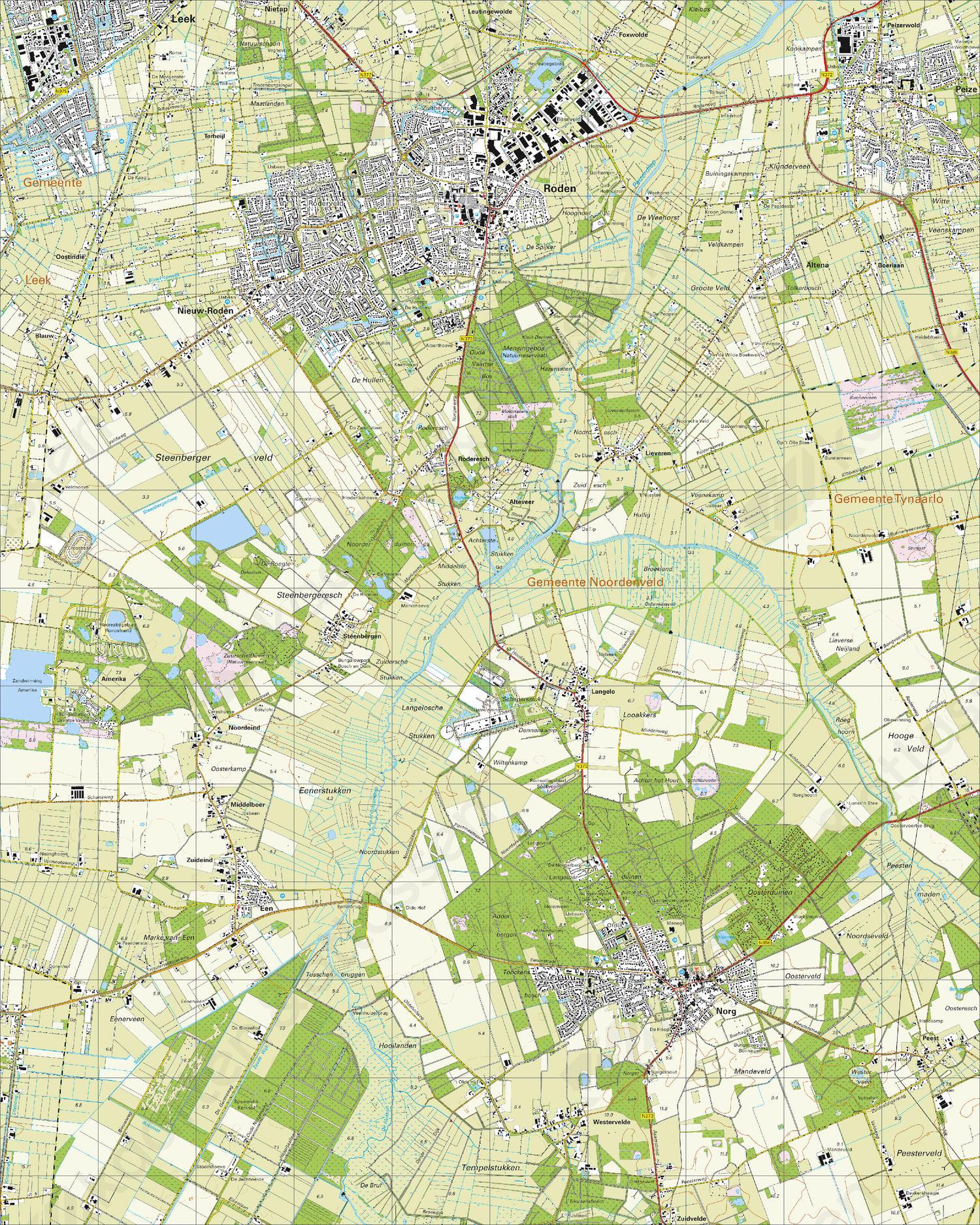 Topografische Kaart 12A Norg