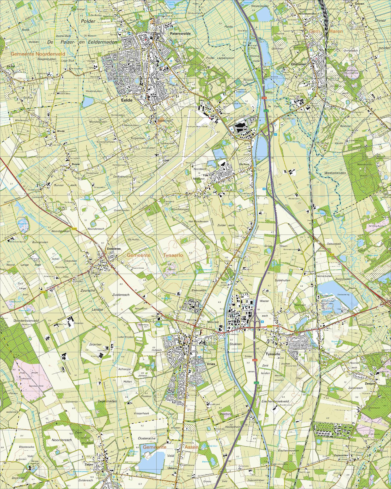Topografische Kaart 12B Vries