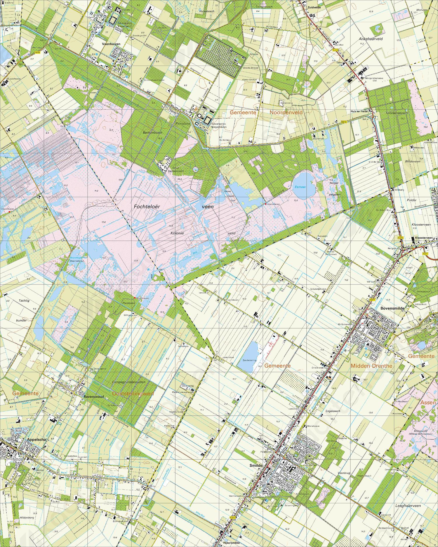 Topografische Kaart 12C Smilde
