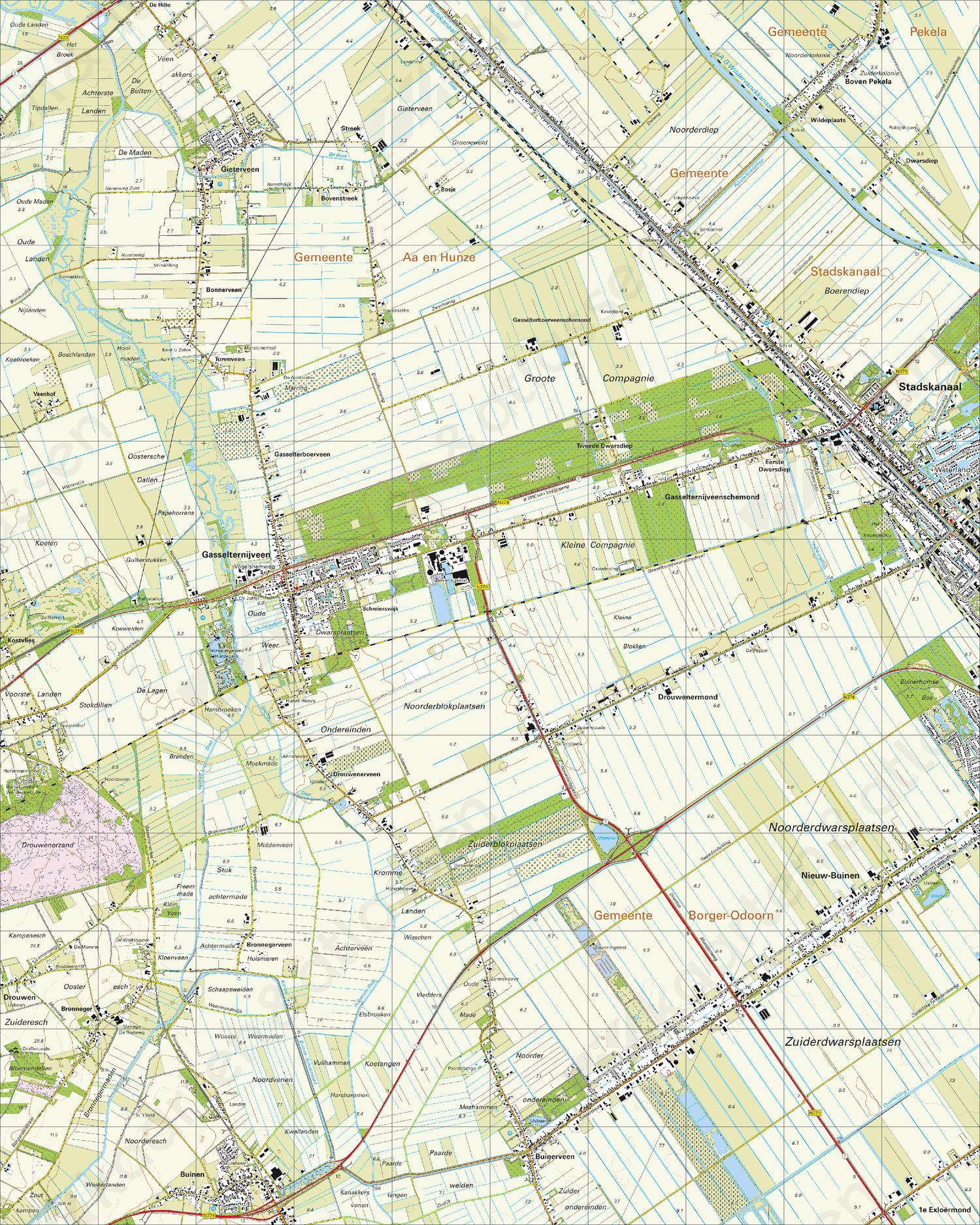 Topografische Kaart 12H Stadskanaal
