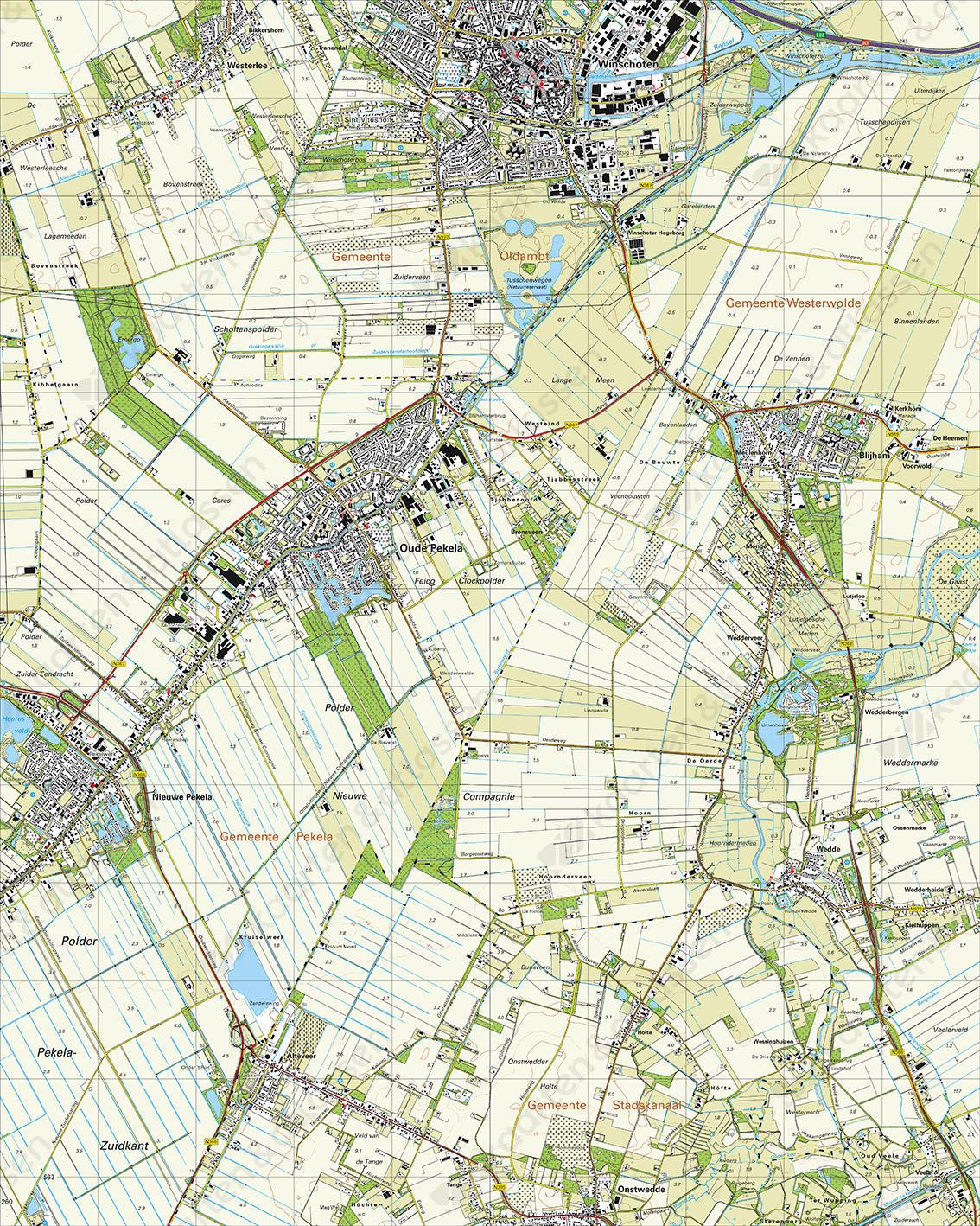 Topografische Kaart 13A Winschoten