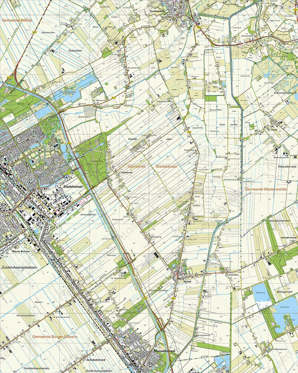Topografische Kaart 13C Stadskanaal