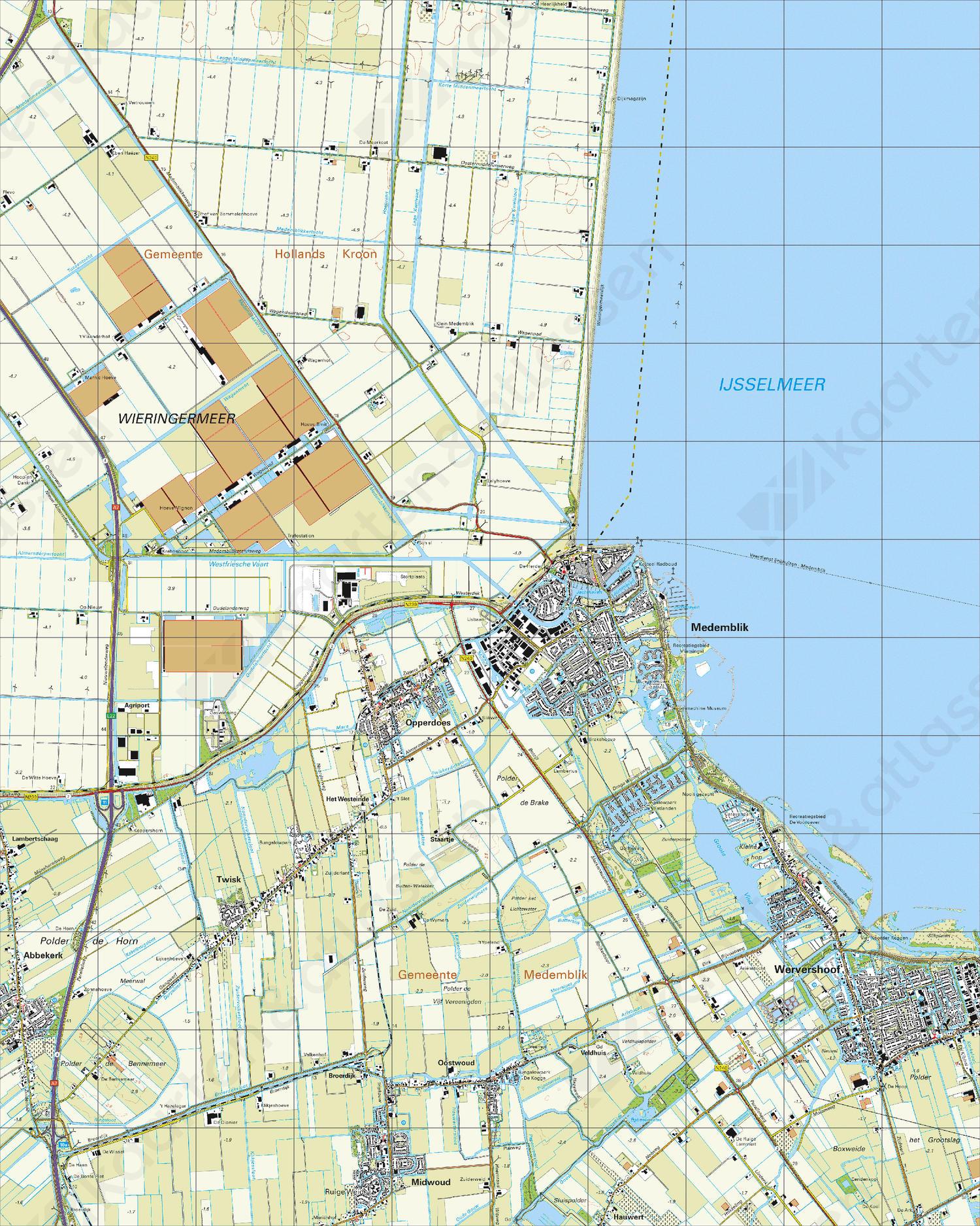 Topografische Kaart 14H Medemblik