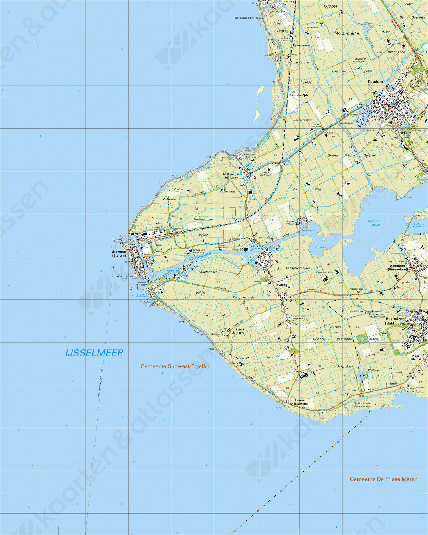 Topografische Kaart 15B Stavoren