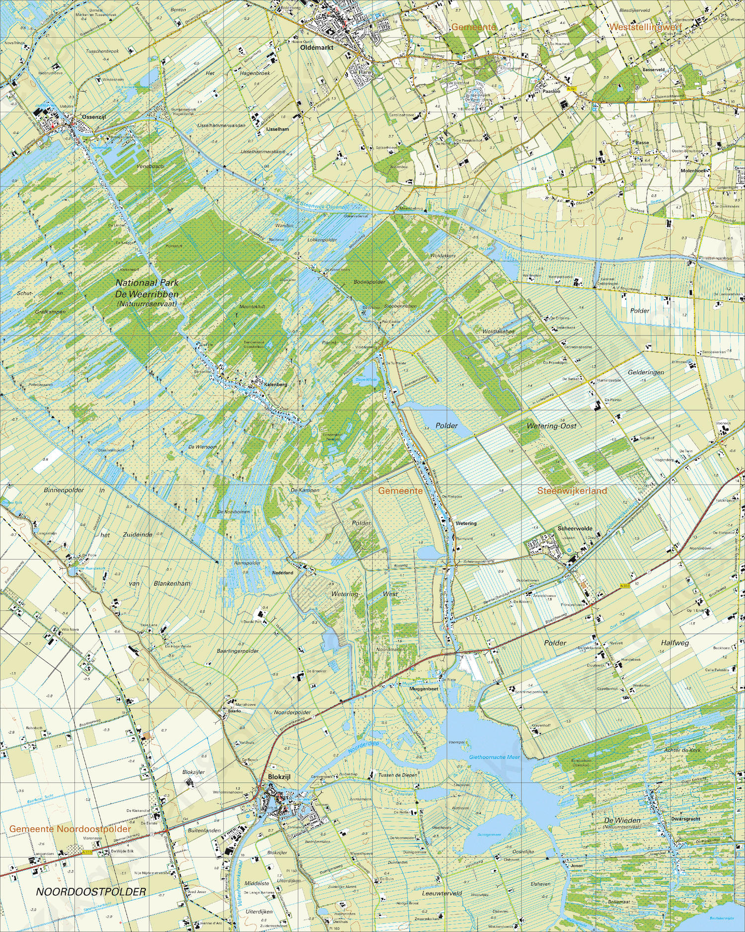 Topografische Kaart 16D Blokzijl
