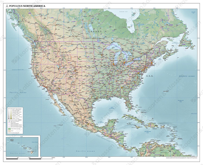 Noord-Amerika natuurkundig