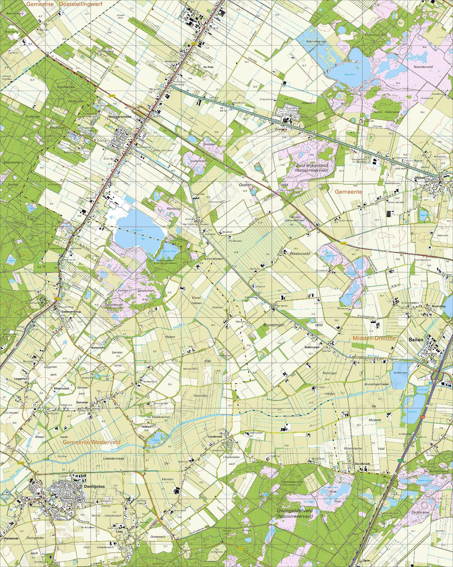 Topografische Kaart 17A Dwingeloo