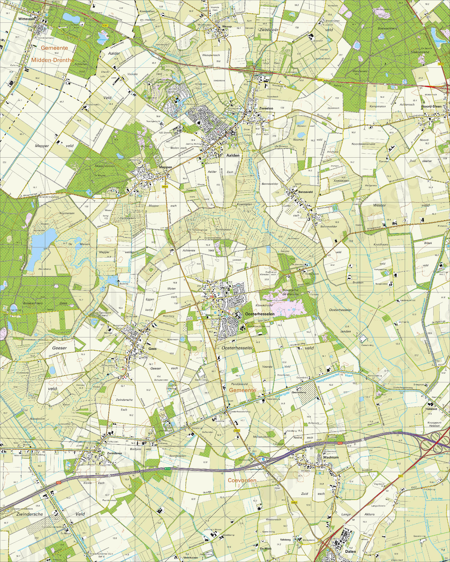 Topografische Kaart 17G Oosterhesselen