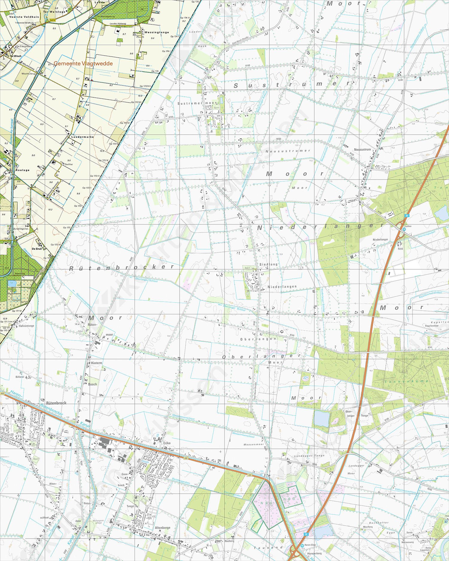 Topografische Kaart 18B Wessingtange