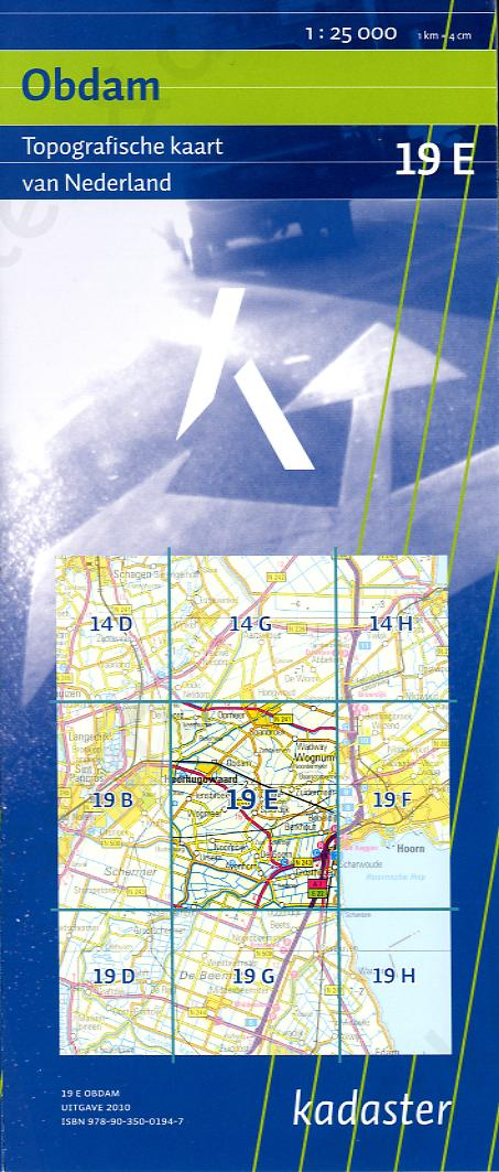 Digitale Topografische Kaart 19E Obdam