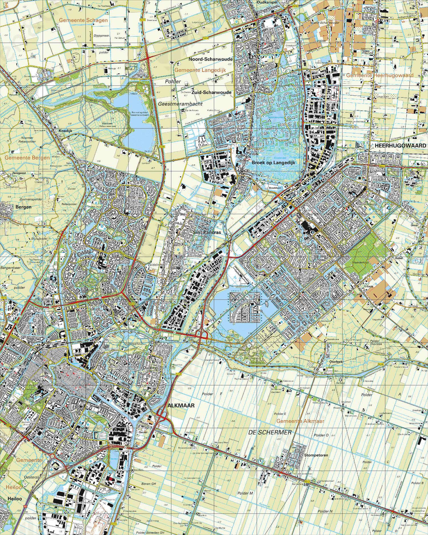 Topografische Kaart 19B Alkmaar