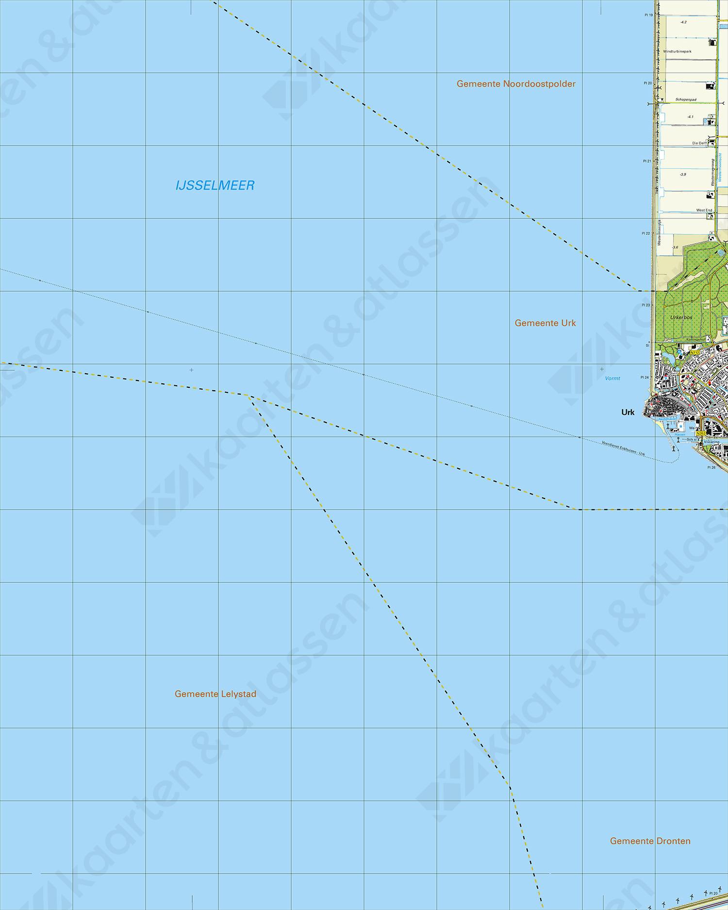 Topografische Kaart 20E Urk