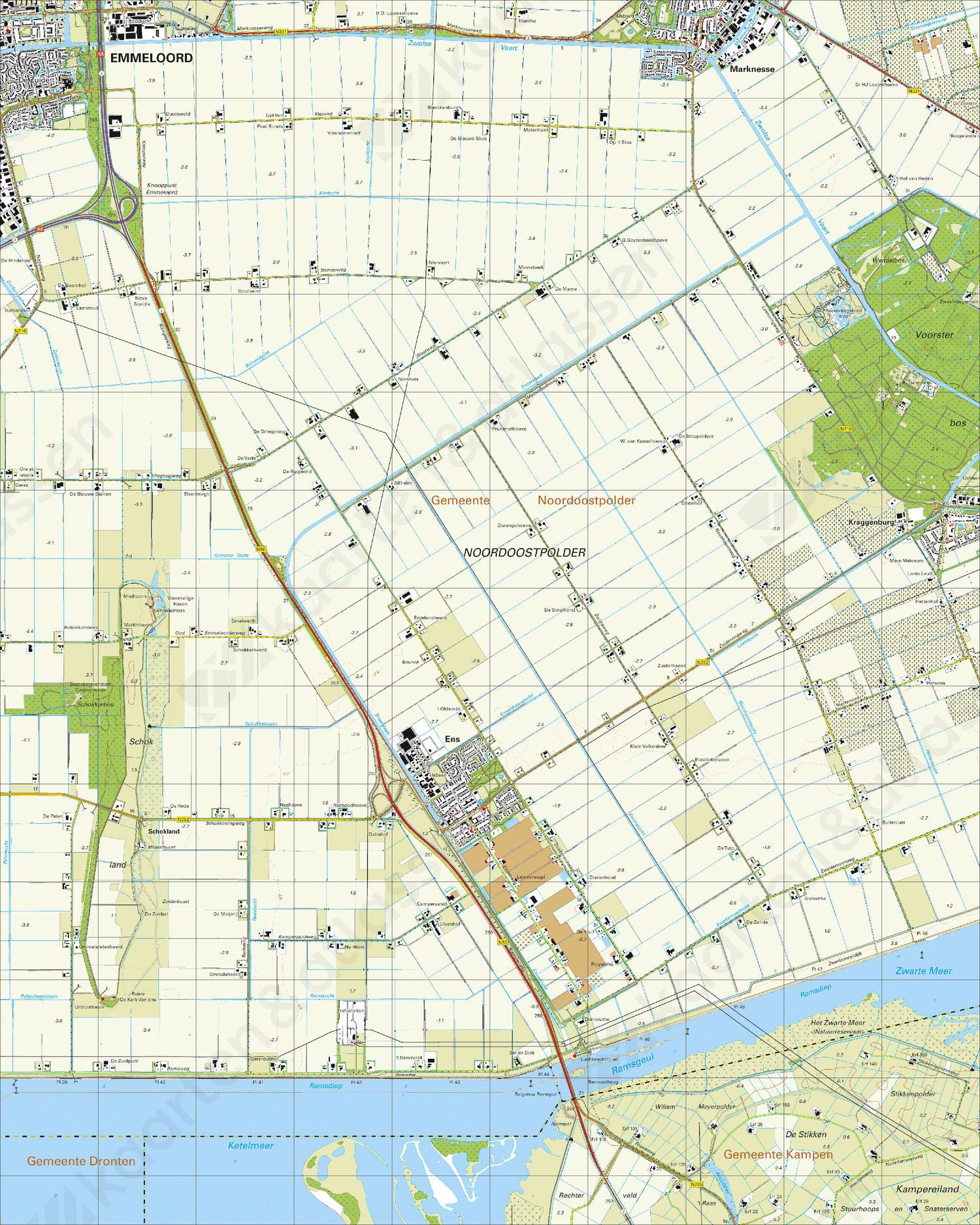 Topografische Kaart 21A Ens
