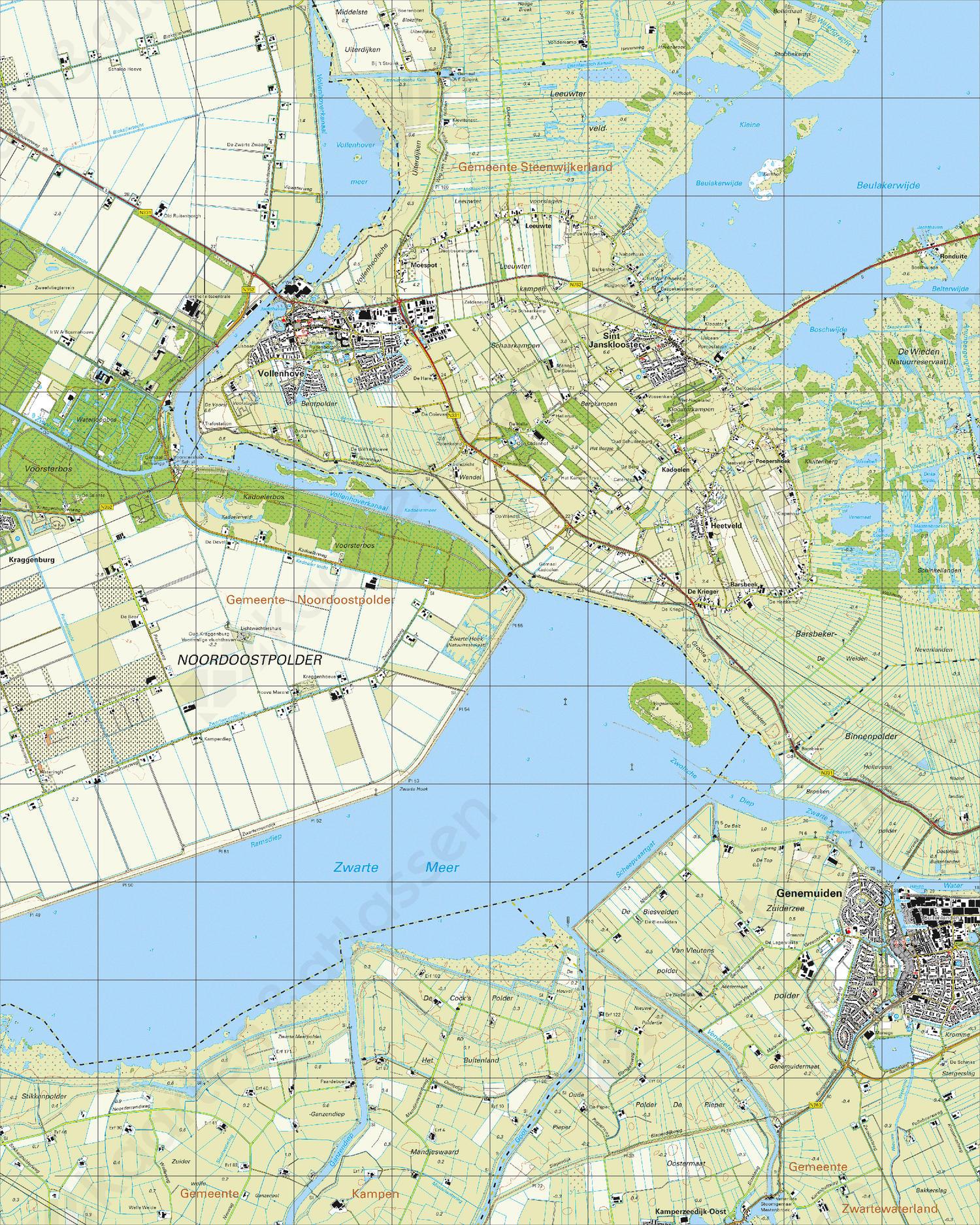 Topografische Kaart 21B Vollenhove