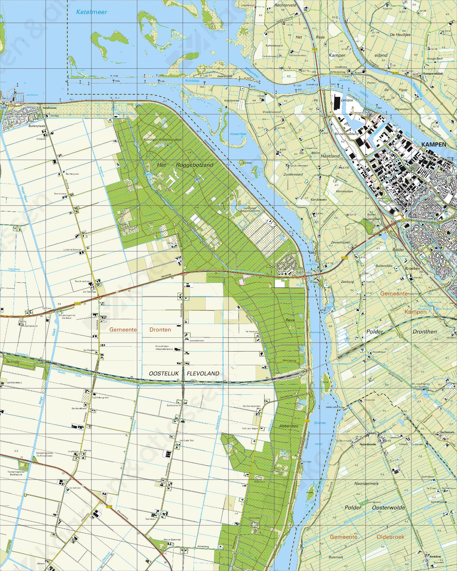 Topografische Kaart 21C Roggebotsluis