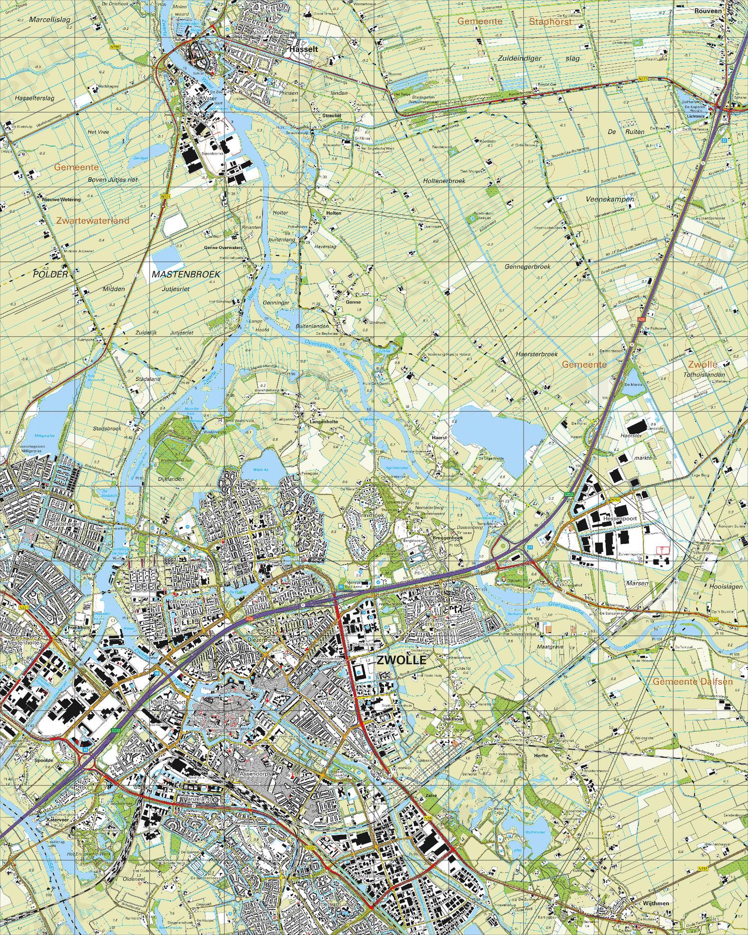 Topografische Kaart 21G Zwolle