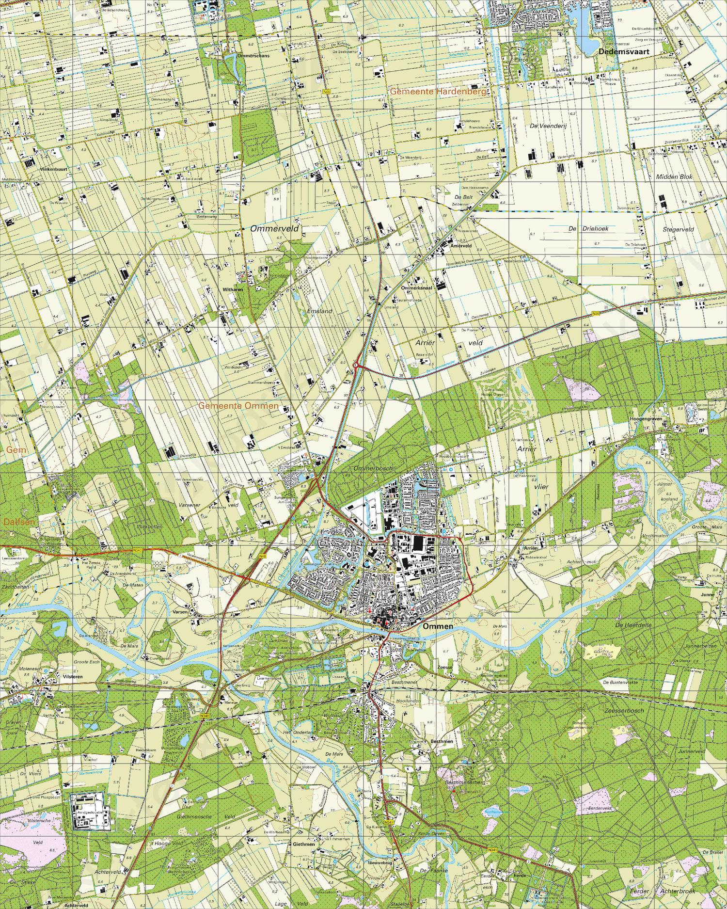 Topografische Kaart 22C Ommen