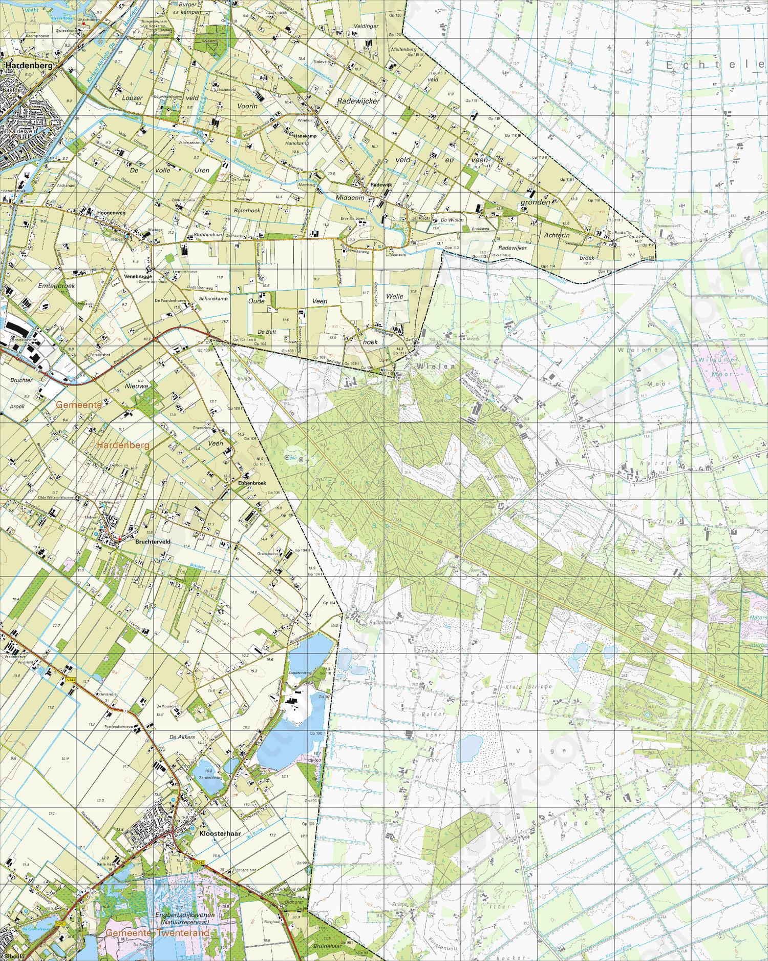 Topografische Kaart 22G Kloosterhaar