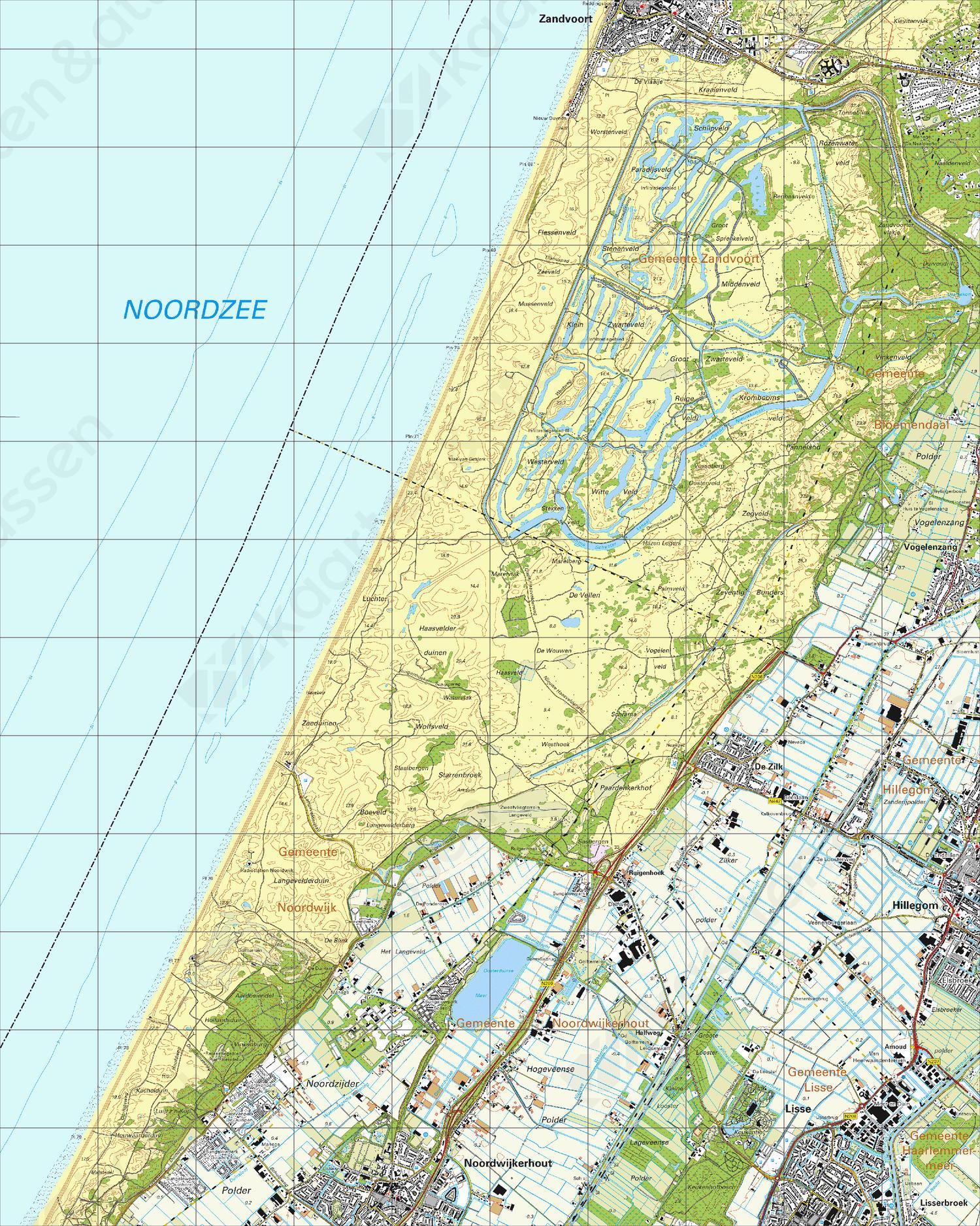 Topografische Kaart 24H Noordwijkerhout