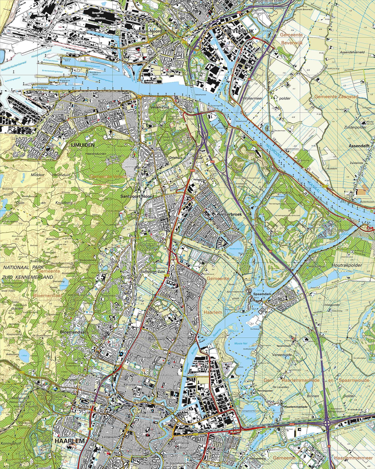 kaart ijmuiden Gevouwen Topografische Kaart 25A IJmuiden | Kaarten en Atlassen.nl