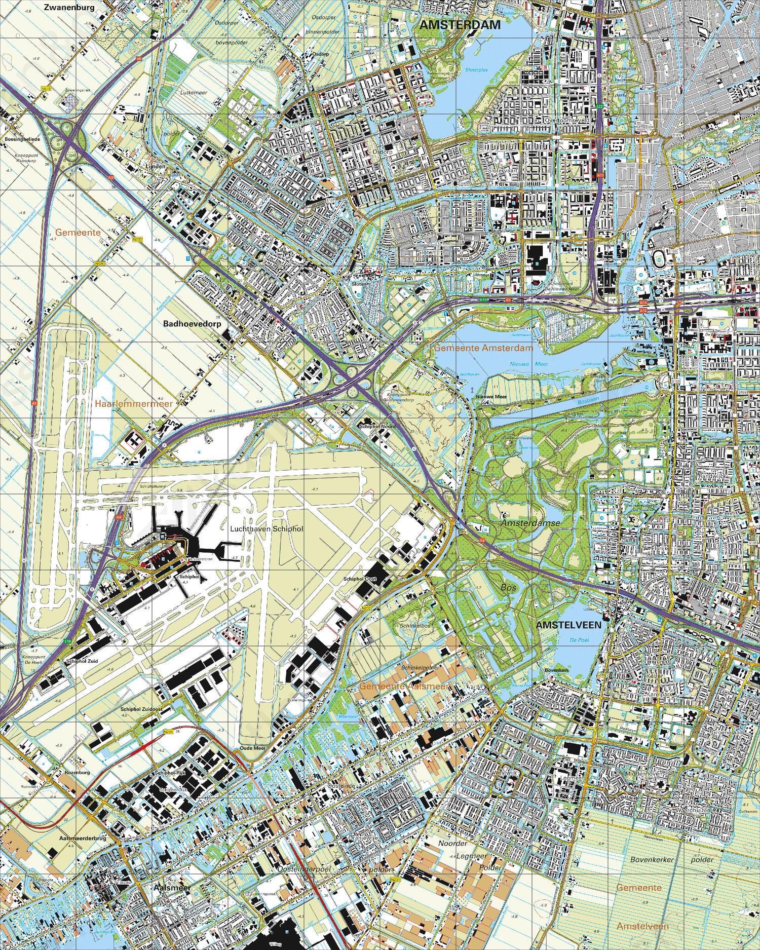 Topografische Kaart 25D Amstelveen