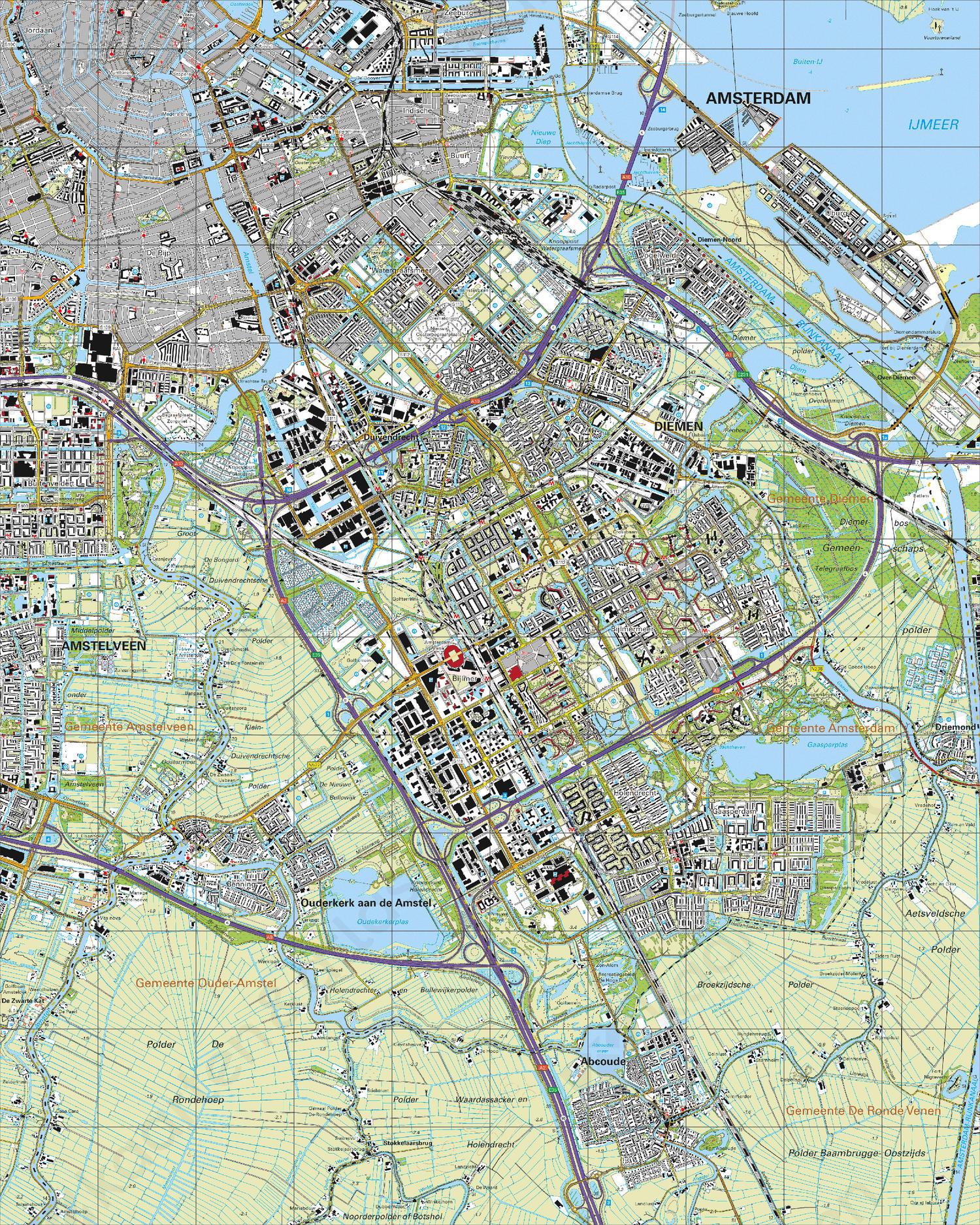 Topografische Kaart 25G Amsterdam
