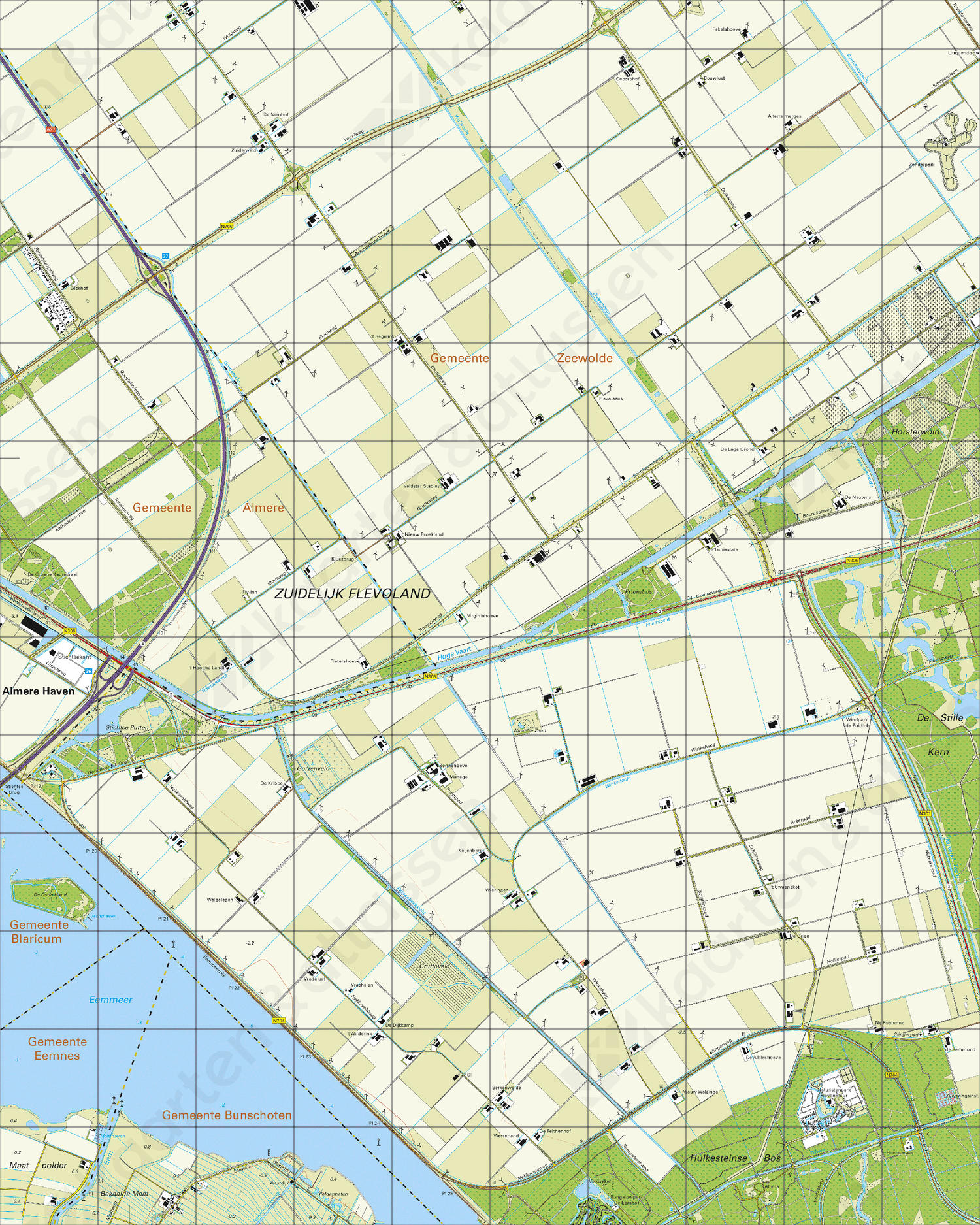Topografische Kaart 26D Flevoland-Zuid
