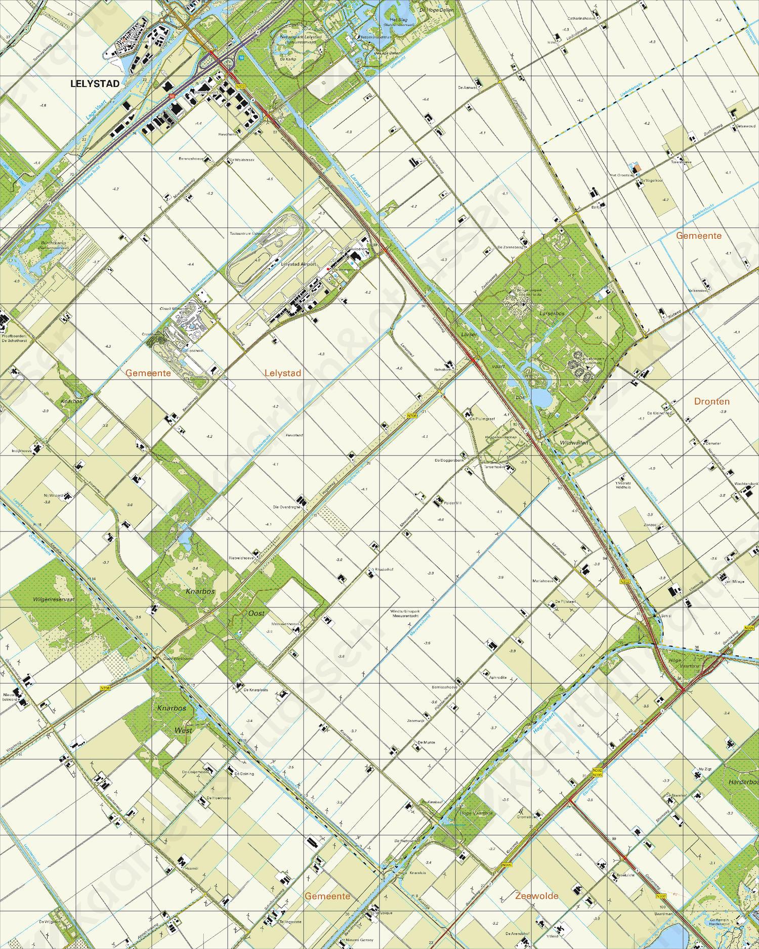 Topografische Kaart 26E Larserbos