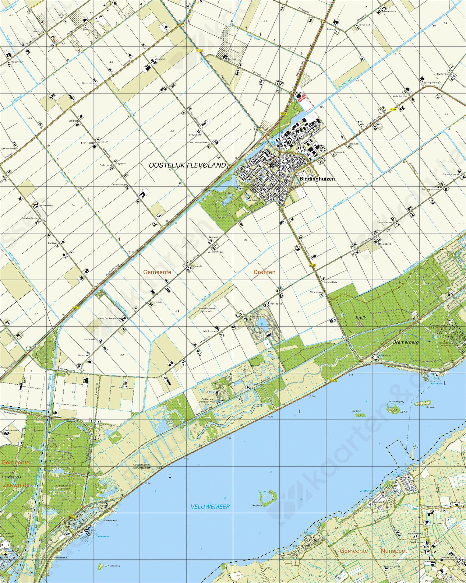 Topografische Kaart 26F Biddingshuizen