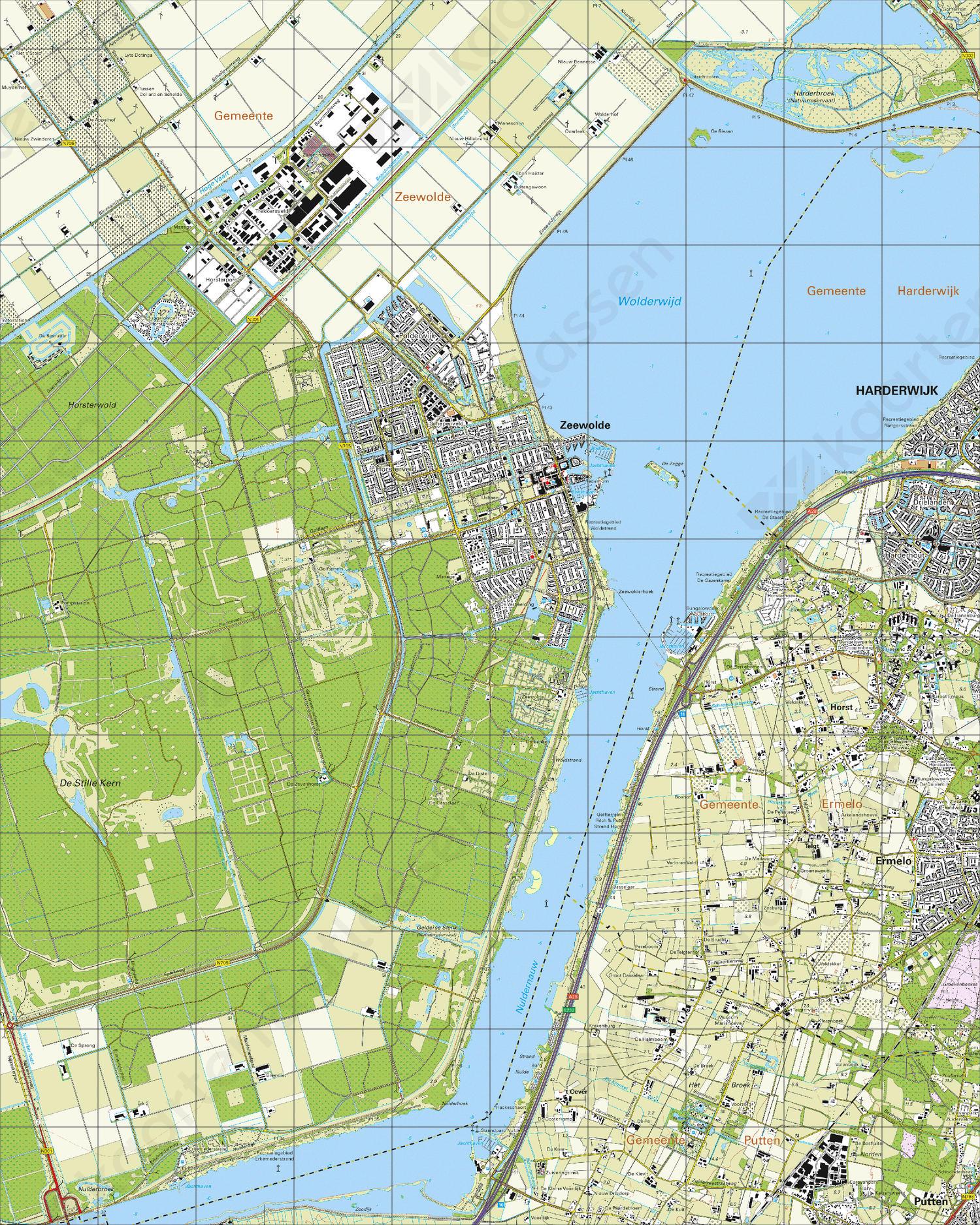 Topografische Kaart 26G Zeewolde