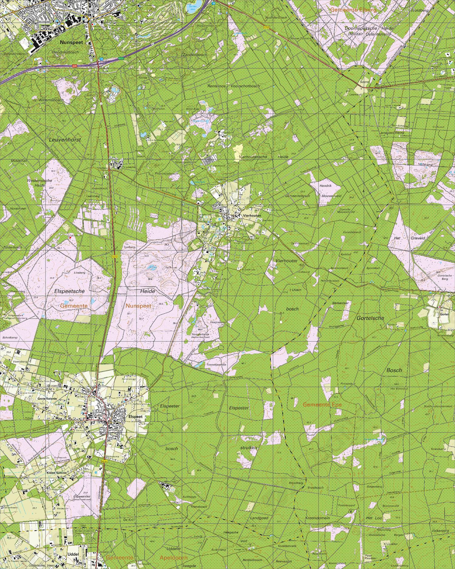 Topografische Kaart 27C Elspeet