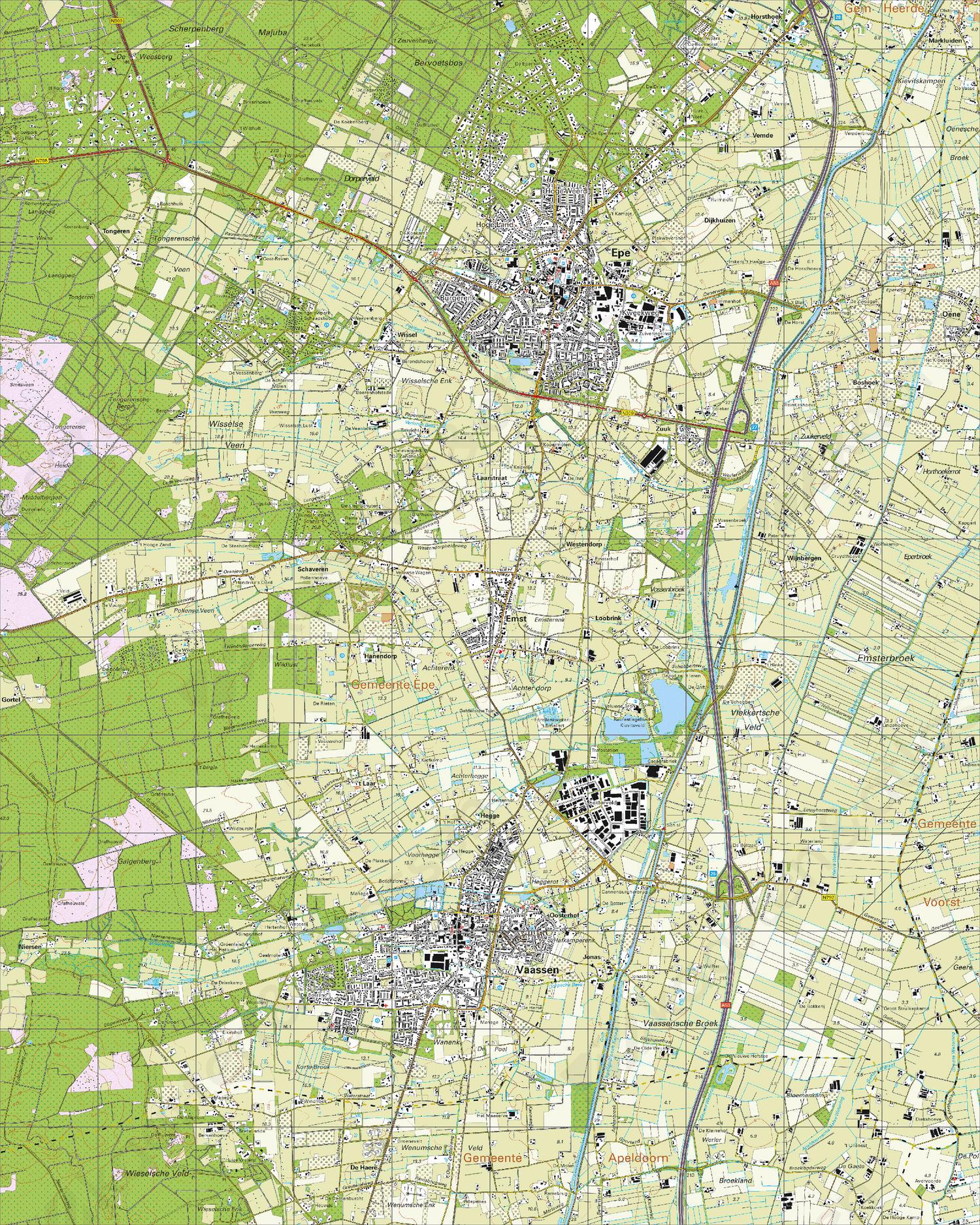 Topografische Kaart 27D Epe