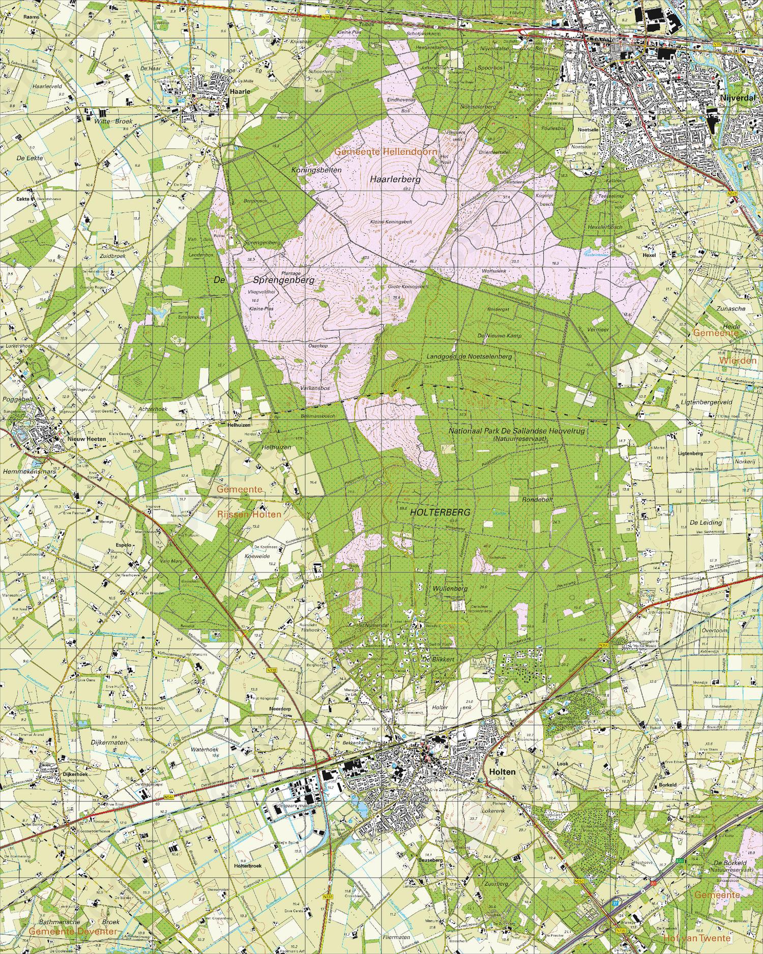 Topografische Kaart 28C Holten