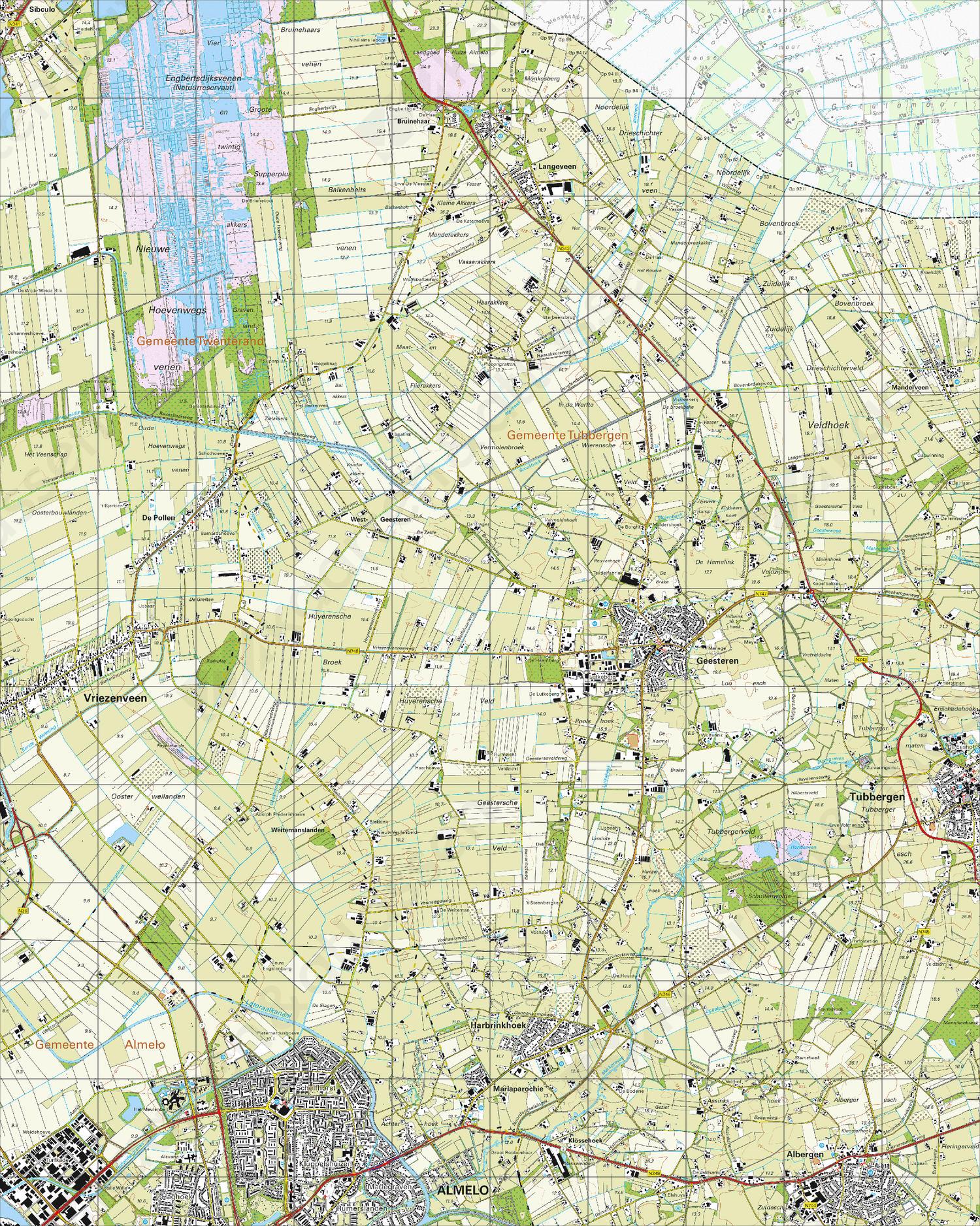 Topografische Kaart 28E Geesteren