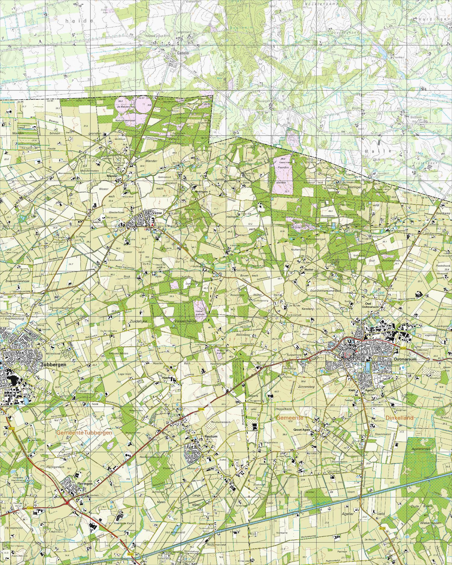 Topografische Kaart 28F Ootmarsum