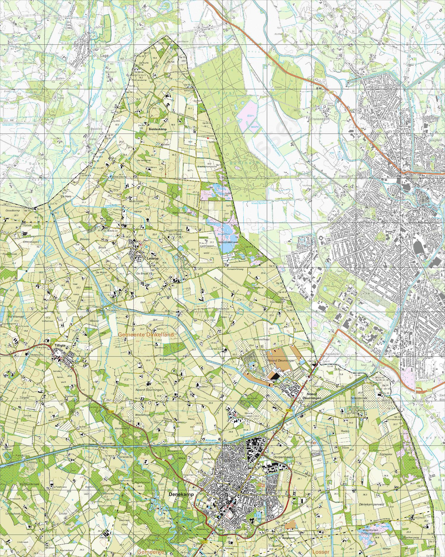 Topografische Kaart 29A Denekamp